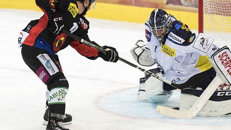 Berns Tristan Scherwey erzielte beim 2:0-Heimsieg gegen Ambri-Piotta beide Tore