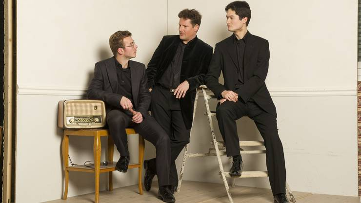 Drei wunderbare Partner bei den Wettinger Kammerkonzerten (WKK): Benjamin Nyffenegger, Oliver Schnyder und Andreas Janke (v.l). Foto: Marco Borggreve