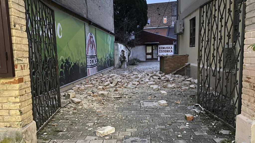 Fünf Menschen tot – Erdbeben der Stärke 6,4 erschüttert Kroatien