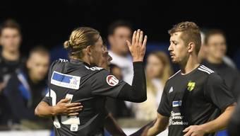 Jubel beim FC Mutschellen: Drei Treffer in den letzten zehn Minuten drehten das Spiel gegen Wohlen.