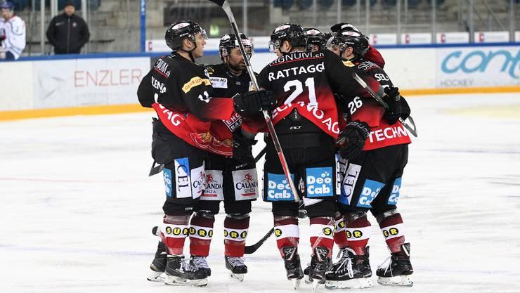 Viermal konnte der EHC Basel gegen Bülach jubeln.
