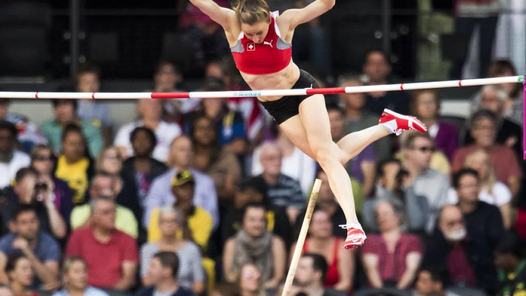 Nicole Büchler schaffte im Stabhochsprung-Final keinen Exploit.