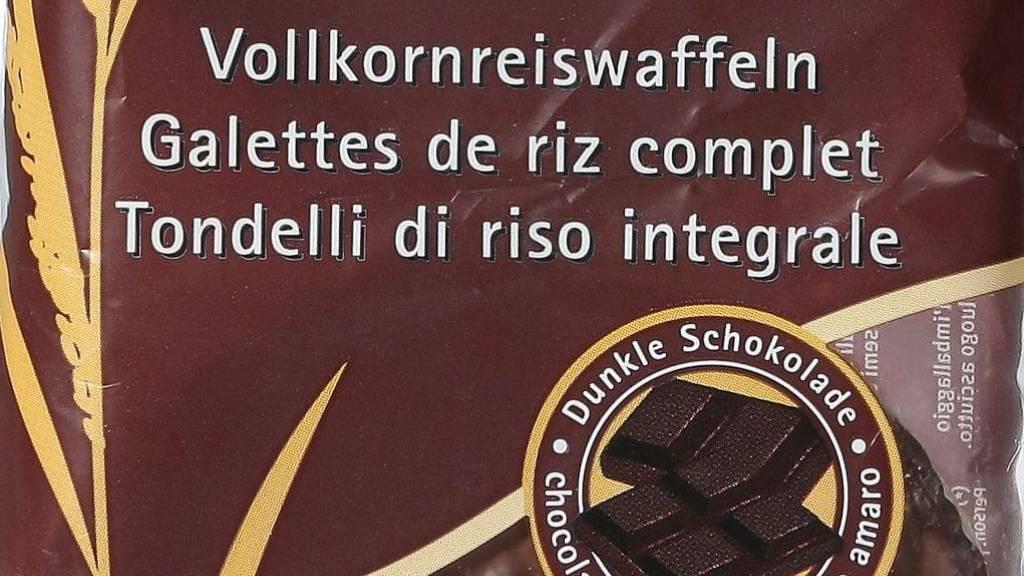 Migros ruft Vollkornreiswaffeln mit dunkler Schokolade zurück