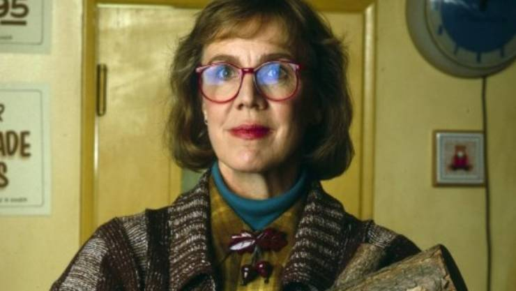 "Catherine Coulson als ""Log Lady"" in ""Twin Peaks"" (ABC Archiv)."