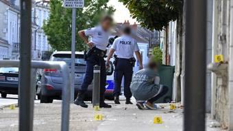 An der Rue Victor Hugo in Périgueux wurden am Montag vier Menschen mit einem Messer verletzt.