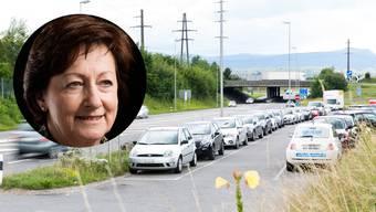 Der Parkplatz bei der A1-Auffahrt Aarau West an einem normalen Werktag. «Es fehlt an allen Ecken und Enden an genügend Parkplätzen», sagt Flückiger.