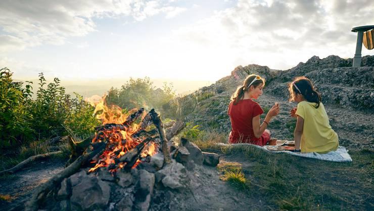 Die Gisliflue bietet eine tolle Aussicht und eine Feuerstelle.