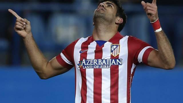 Diego Costa jubelt nach dem Siegtor.