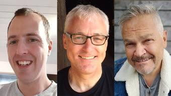 Von links: Marus Erismann (33), Urs Schläpfer (62) und Ernst Steiner (58).
