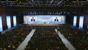 Xi Jinping bei seiner Rede am APEC-Treffen in Peking