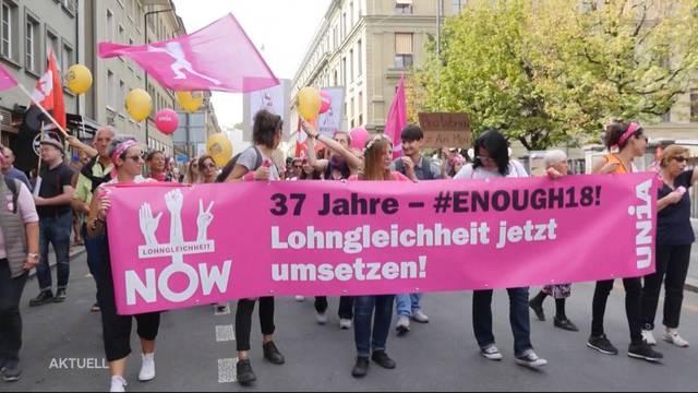 """""""Enough 2018"""" — Frauen demonstrieren für Gleichberechtigung"""