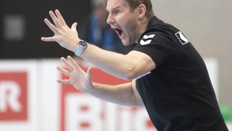 Petr Hrachovec verliert mit den Kadetten Schaffhausen das letzte Heimspiel in der Champions League