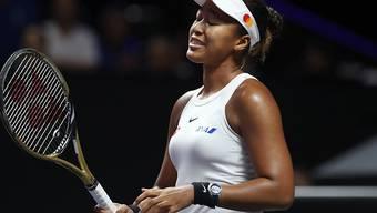 Naomi Osaka leidet unter einer Schulterverletzung und muss auf weitere Partien an den WTA Finals verzichten