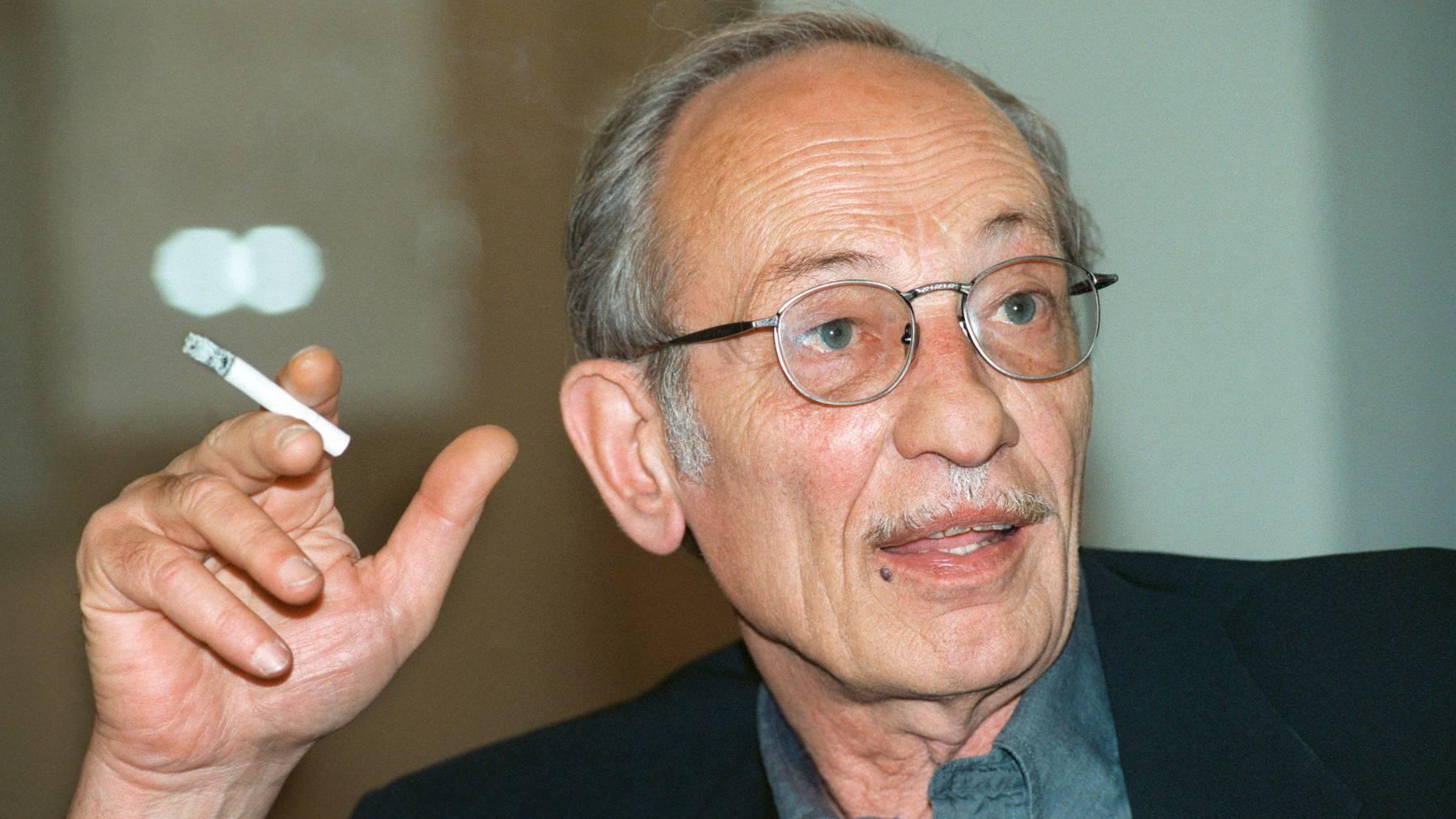 Ist 88-jährig gestorben: Luigi Snozzi, berühmter Tessiner Architekt und Intellektuelle. Hier in einer Aufnahme von 1996.