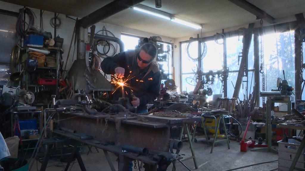Lebenskünstler: Silvan Köppel der Schrottbauer