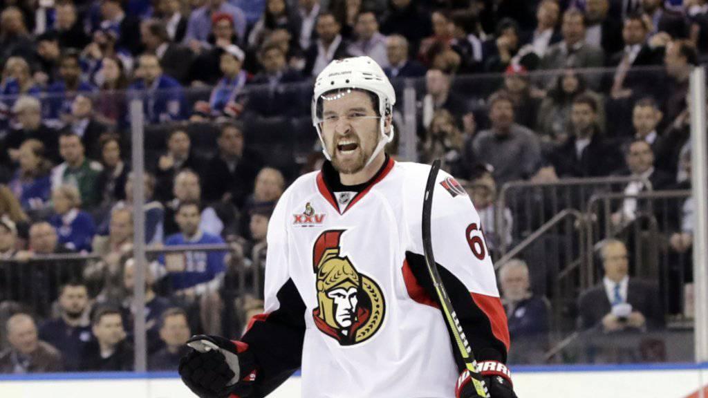 Berechtigter Jubel: Mark Stone und die Ottawa Senators erreichen erst zum zweiten Mal nach 2007 die Playoff-Halbfinals