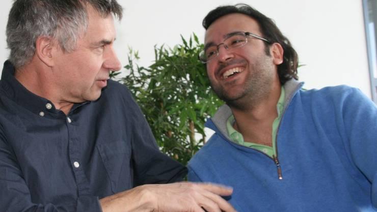 Schauspieler und Regisseur Olaf Hörbe (links) und der musikalische Gesamtleiter Rolando Garza.