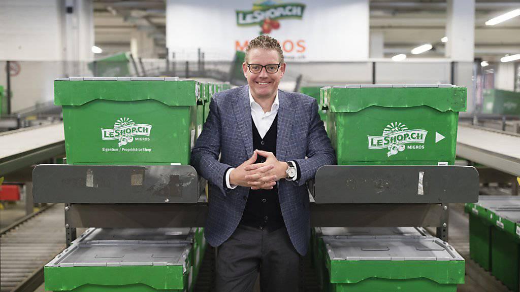 LeShop-Chef Dominique Locher freut sich über den Umsatzrekord und über den Trend des Online-Handels zu weiterem Wachstum. (Archiv)