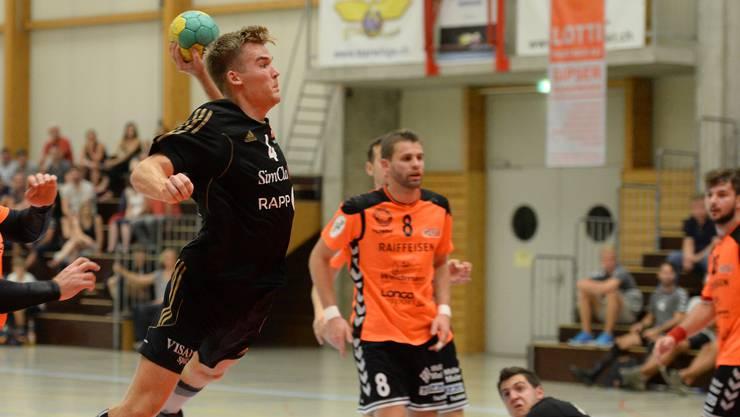 Mads Boie Thomsen im Birsfelder Rückraum zeigte eine starke Leistung.