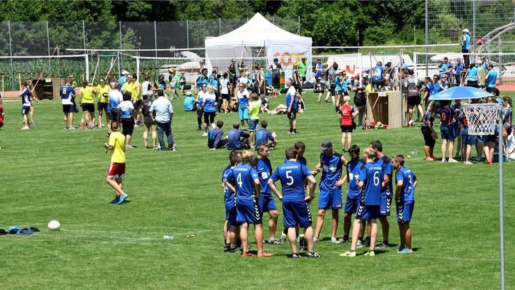 Blick aufs Festgelände des Aargauer Kantonalturnfest 2017 am Freitag, 16. Juni