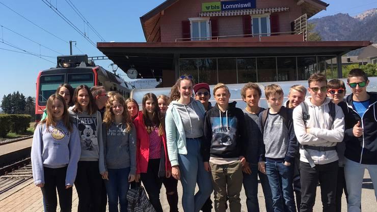 Die Jugendlichen wanderten von Lommiswil nach Grenchen
