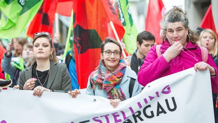 Demonstration für Gleichstellung, Aarau