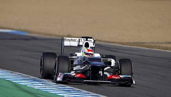Nicht ganz reibungsloser Testtag für Sauber-Pilot Sergio Perez