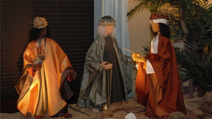 Ein Beispiel für die Gruppe der Heiligen Drei Könige im Stil Schwarzenberg. zvg