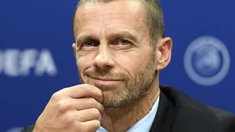 Spart nicht mit kritischen Worten in Richtung der FIFA: UEFA-Präsident Aleksander Ceferin