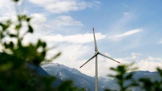 Windkraftanlage im Wallis