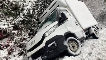 Bergungsaktion im Schneegestöber auf dem Mutschellen.