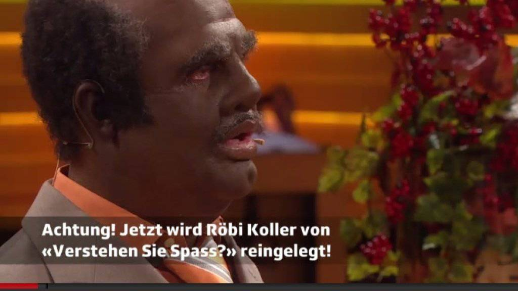 Guido Cantz als Dunkelhäutiger - Kritik an