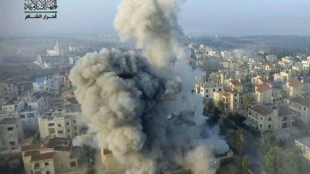 Ein Drohnenangriff in Syrien tötete die Nummer Zwei des Terrornetzwerks Al-Kaida in Syrien. (Symbolbild)