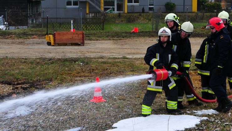 Feuerwehrausbildung in Grenchen