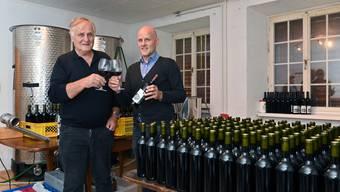 Hans und Claudio von Felten - Bioweinproduktion - Mühlehof Trimbach