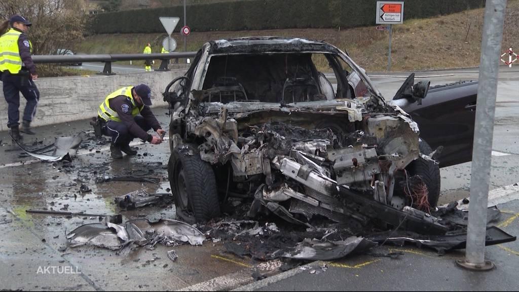 Zu müde und zu schnell: Zwei Selbstunfälle in der Region Aarau