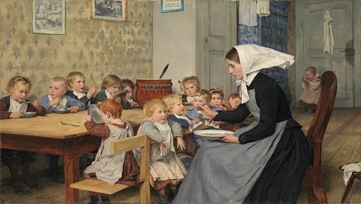 Albert Anker: Die Kinderkrippe, 1890.