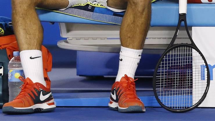 Rorger Federer trägt neuerdings zwei paar Socken.
