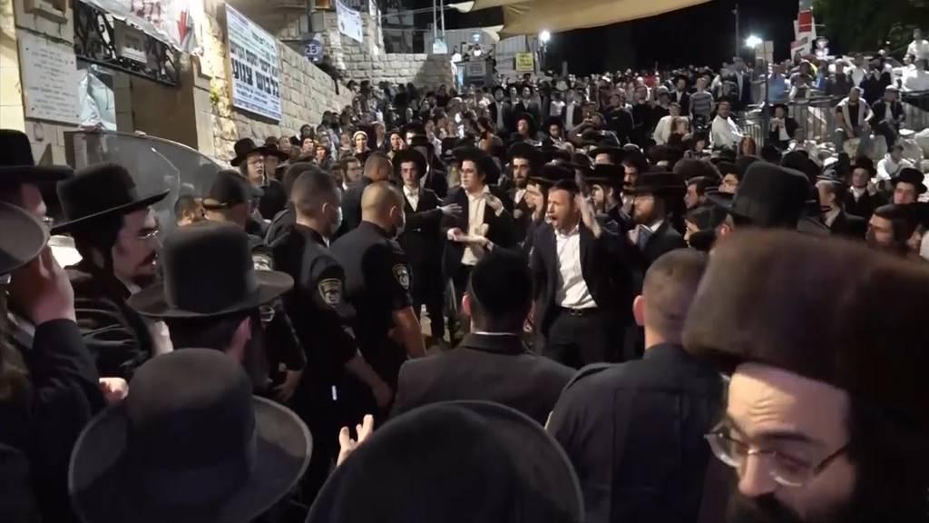 Mindestens 44 Tote bei Massenpanik auf jüdischem Fest in Israel