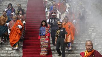 Buthans König hat keine hohen Staatsgäste zu seiner Hochzeit geladen