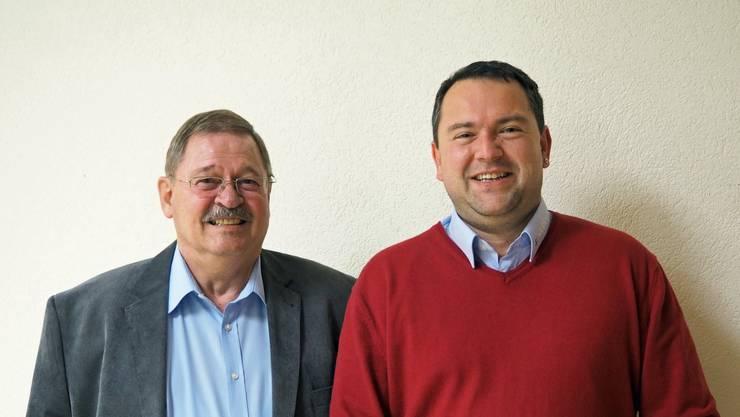 Die neu gewählten Armando Pagani (Präsident, Lostorf) und Marco Wyss (Vizepräsident, Stüsslingen).