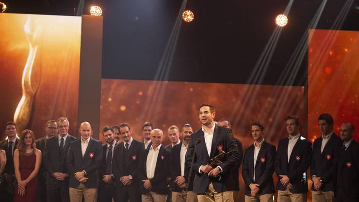 Die Eishockey-Nationalmannschaft der Männer wurde als das beste Team des Jahres ausgezeichnet.