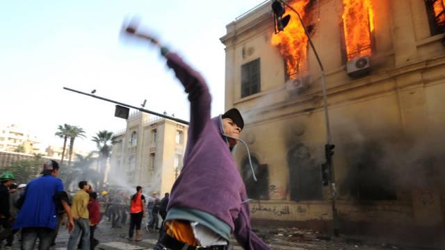 Gewalt in Ägypten (Symbolbild aus Kairo, 2011 beim Tahrir-Platz)