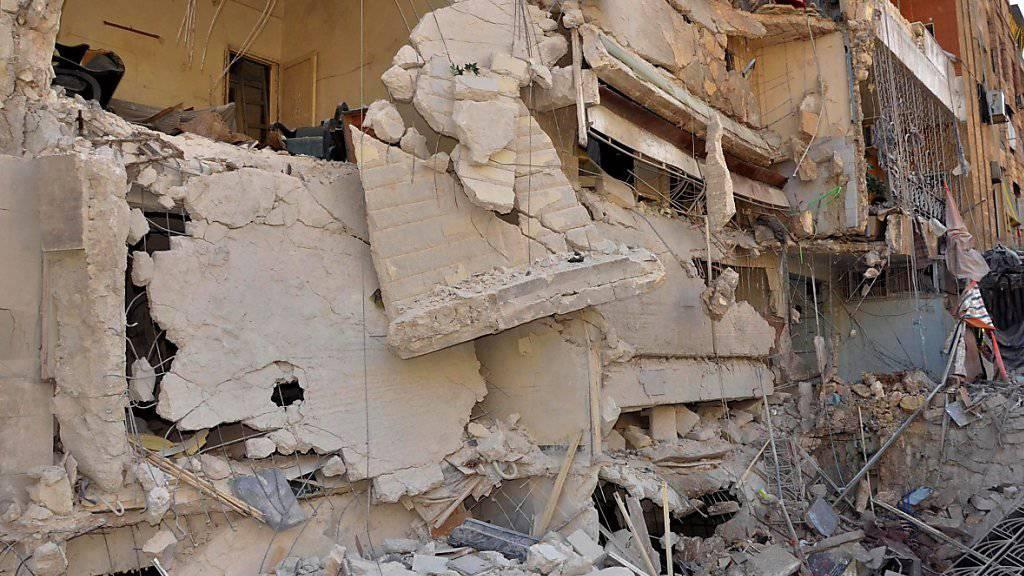 Zerstörte Häuser in Aleppo - die UNO will den Zugang zu syrischen Kriegsopfern verbessern. (Archiv)