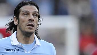 Lazio Roms Matchwinner Sergio Floccari