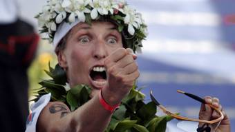 Natascha Badmann bei ihrem letzten Triumph auf Hawaii im Jahre 2005