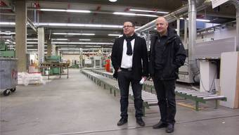 Liquidator Jakob Aeschlimann (r.) mit einem Interessenten aus Portugal.