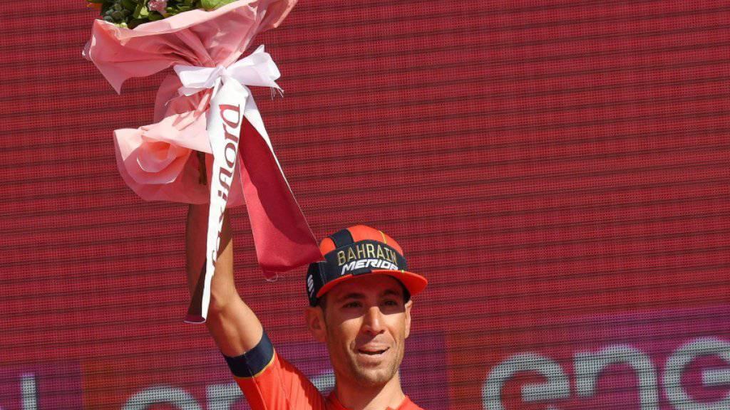 Vincenzo Nibali - hier im Dress von Bahrain-Merida nach seinem 2. Platz im Giro - wechselt auf 2020 zu Trek-Segafredo