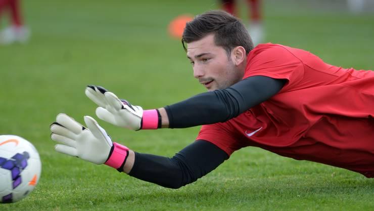 Der 26-jährige Torhüter Vilson Dedaj wurde in der Winterpause geholt und hat sich beim FC Solothurn als Nummer 1 etabliert.HPS