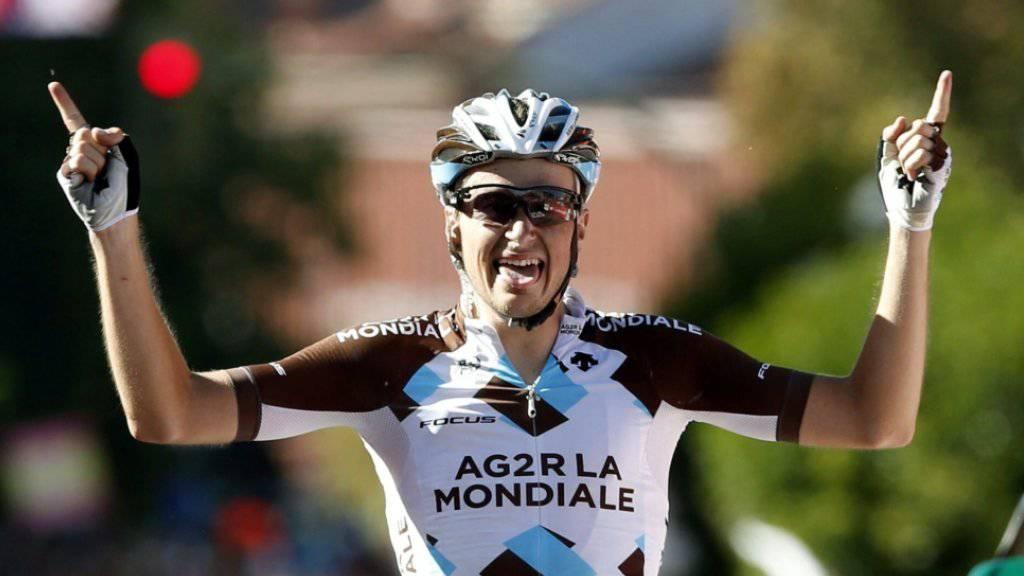 Der Franzose Alexis Gougeard gewinnt die 19. Etappe der Spanien-Rundfahrt solo